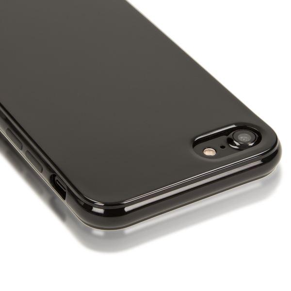 NALIA Handyhülle kompatibel mit iPhone 8 / 7, Ultra-Slim TPU Silikon Jelly Case, Dünnes Cover Gummi Schutz-Hülle Skin, Etui Handy-Tasche Telefon-Schale Back-Cover Thin Smart-Phone Bumper - Schwarz – Bild 2