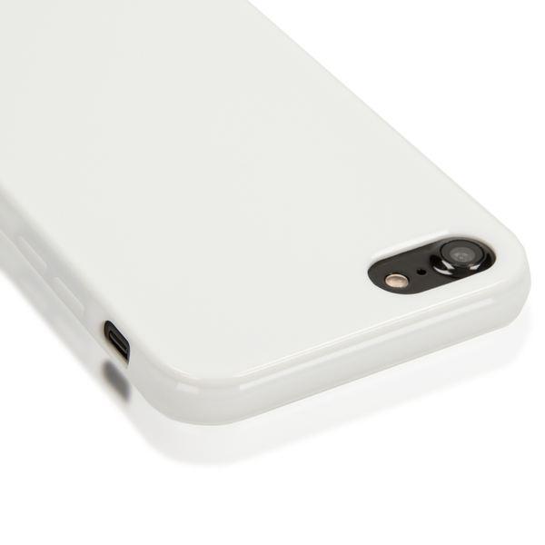 NALIA Handyhülle kompatibel mit iPhone 8 / 7, Ultra-Slim TPU Silikon Jelly Case, Dünnes Cover Gummi Schutz-Hülle Skin, Etui Handy-Tasche Telefon-Schale Back-Cover Thin-Fit Smart-Phone Bumper - Weiß – Bild 2