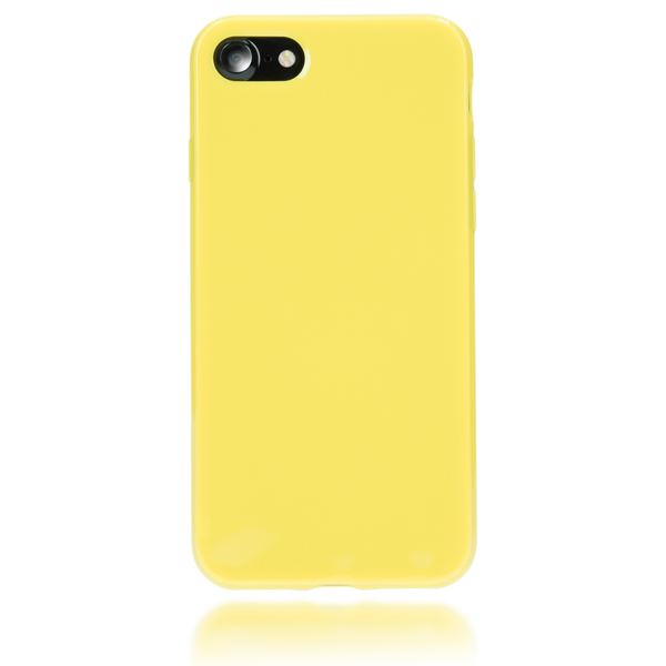 NALIA Handyhülle kompatibel mit iPhone 8 / 7, Ultra-Slim TPU Silikon Jelly Case, Dünnes Cover Gummi Schutz-Hülle Skin, Etui Handy-Tasche Telefon-Schale Back-Cover Thin-Fit Smart-Phone Bumper - Gelb – Bild 5