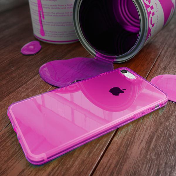 NALIA Handyhülle kompatibel mit iPhone 8 / 7, Ultra-Slim Silikon Case Cover Crystal Schutz-Hülle Dünn Durchsichtig, Etui Handy-Tasche Backcover Transparent Smart-Phone Thin Bumper - Pink Transparent – Bild 6