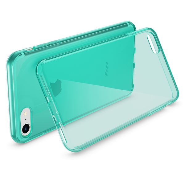 NALIA Handyhülle kompatibel mit iPhone 8 / 7, Ultra-Slim Silikon Case Cover Crystal Schutz-Hülle Dünn Durchsichtig Etui Handy-Tasche Backcover Transparent Smart-Phone Thin Bumper - Türkis Transparent – Bild 2