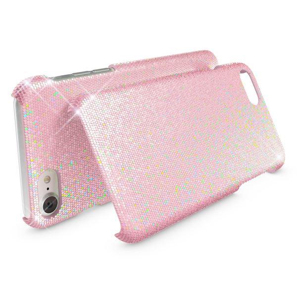 NALIA Handyhülle kompatibel mit iPhone 8 / 7, Glitzer Slim Hard-Case Back-Cover Schutz-Hülle, Handy-Tasche im Glitter Sparkle Design, Dünnes Bling Strass Etui Schale Thin-Fit Smart-Phone Skin - Rosa – Bild 2