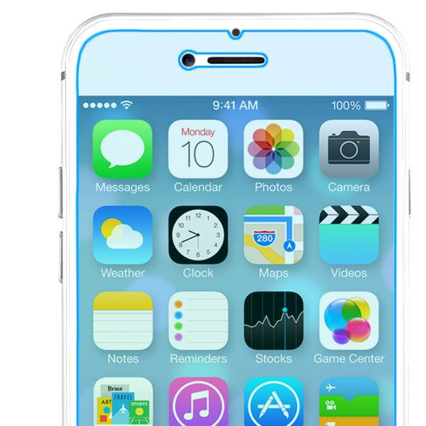 NALIA Schutzglas für iPhone 8 / 7, 9H gehärtete Glas-Schutzfolie Display-Abdeckung Hüllen-Kompatibel, Handy-Folie Schutz-Film Glasfolie, Phone HD Screen Protector Tempered Glass - Transparent – Bild 3
