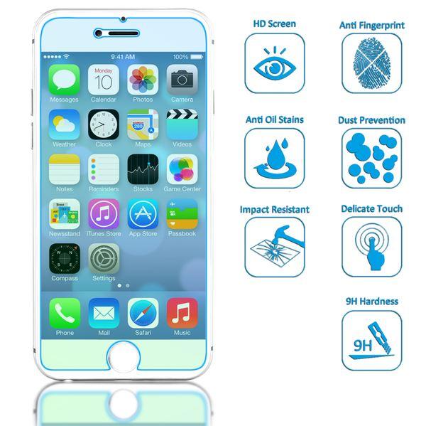 NALIA Schutzglas für iPhone 8 Plus / 7 Plus, 9H gehärtete Glas-Schutzfolie Display-Abdeckung Hüllen-Kompatibel, Handy-Folie Schutz-Film Glasfolie, HD Screen Protector Tempered Glass - Transparent – Bild 2