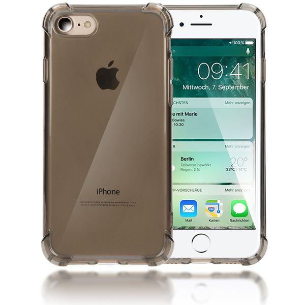 NALIA Handyhülle kompatibel mit iPhone 8 / 7, Ultra-Slim Silikon Case Cover Crystal Schutz-Hülle Dünn Durchsichtig, Etui Handy-Tasche Telefon-Schale Backcover Transparent Smart-Phone Bumper - Grau – Bild 1