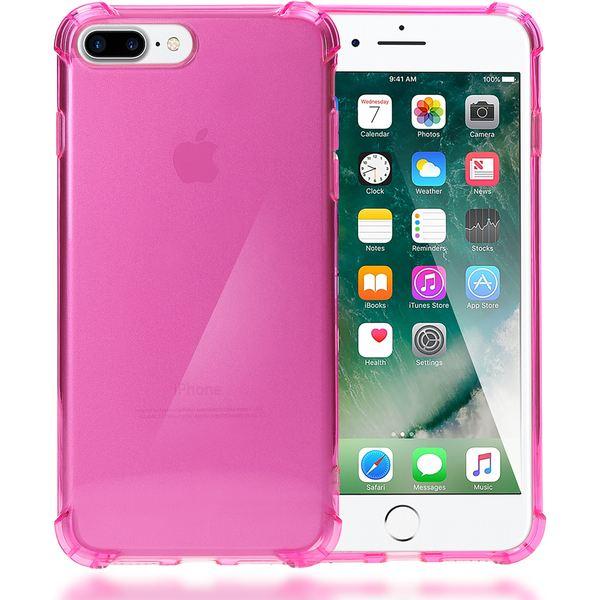 NALIA Handyhülle kompatibel mit iPhone 8 Plus / 7 Plus, Ultra-Slim Silikon Case Crystal Schutz-Hülle Dünn Durchsichtig, Etui Handy-Tasche Back-Cover Schale Transparent Smart-Phone Thin Bumper - Pink – Bild 1