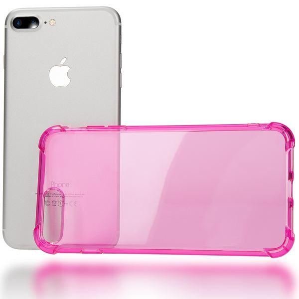 NALIA Handyhülle für iPhone 8 Plus / 7 Plus, Ultra-Slim Silikon Case Crystal Schutz-Hülle Dünn Durchsichtig, Etui Handy-Tasche Back-Cover Transparent Bumper für Apple iPhone 7Plus / 8Plus - Pink – Bild 3