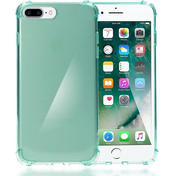NALIA Handyhülle für iPhone 8 Plus / 7 Plus, Ultra-Slim Silikon Case Crystal Schutz-Hülle Dünn Durchsichtig, Etui Handy-Tasche Back-Cover Transparent Bumper für Apple iPhone 7Plus / 8Plus - Türkis – Bild 1