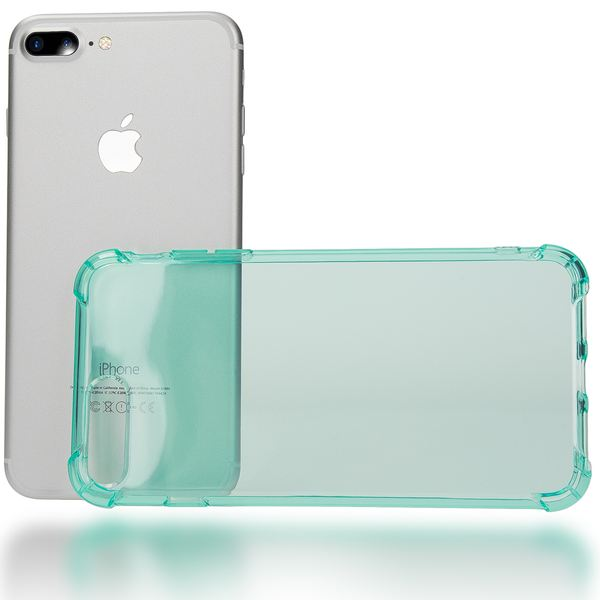 NALIA Handyhülle kompatibel mit iPhone 8 Plus / 7 Plus, Ultra-Slim Silikon Case Crystal Schutz-Hülle Dünn Durchsichtig, Etui Handy-Tasche Back-Cover Schale Transparent Smart-Phone Bumper - Türkis – Bild 3