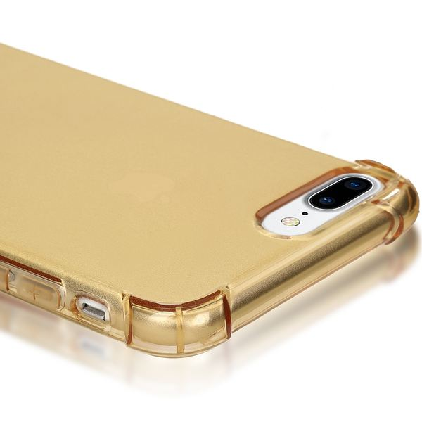 NALIA Handyhülle für iPhone 8 Plus / 7 Plus, Ultra-Slim Silikon Case Crystal Schutz-Hülle Dünn Durchsichtig, Etui Handy-Tasche Back-Cover Transparent Bumper für Apple iPhone 7Plus / 8Plus - Gold – Bild 2