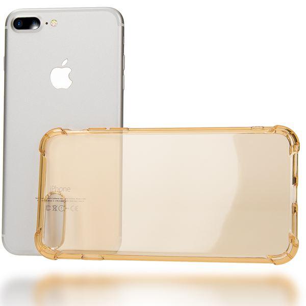 NALIA Handyhülle für iPhone 8 Plus / 7 Plus, Ultra-Slim Silikon Case Crystal Schutz-Hülle Dünn Durchsichtig, Etui Handy-Tasche Back-Cover Transparent Bumper für Apple iPhone 7Plus / 8Plus - Gold – Bild 3