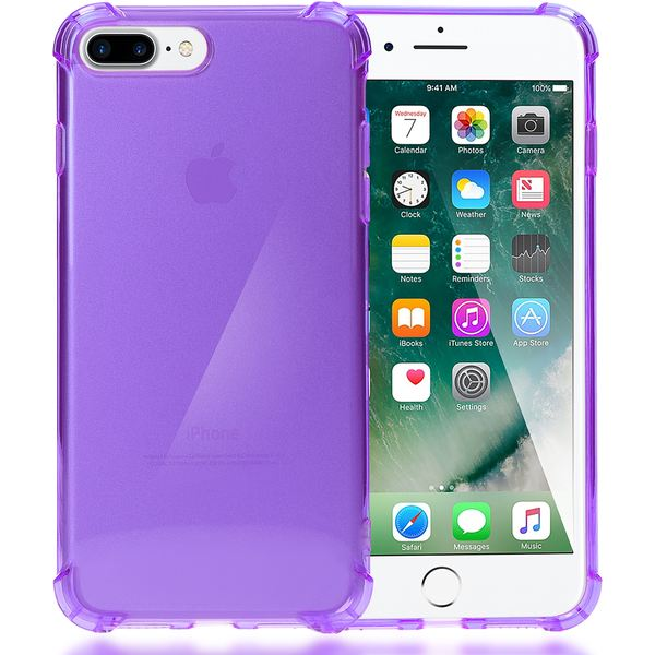 NALIA Handyhülle kompatibel mit iPhone 8 Plus / 7 Plus, Ultra-Slim Silikon Case Crystal Schutz-Hülle Dünn Durchsichtig, Etui Handy-Tasche Back-Cover Schale Transparent Smart-Phone Thin Bumper - Lila – Bild 1