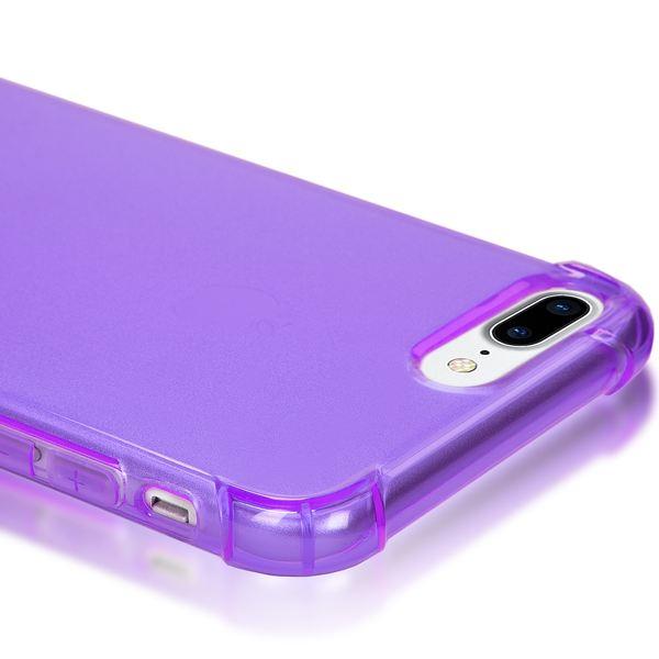 NALIA Handyhülle kompatibel mit iPhone 8 Plus / 7 Plus, Ultra-Slim Silikon Case Crystal Schutz-Hülle Dünn Durchsichtig, Etui Handy-Tasche Back-Cover Schale Transparent Smart-Phone Thin Bumper - Lila – Bild 2