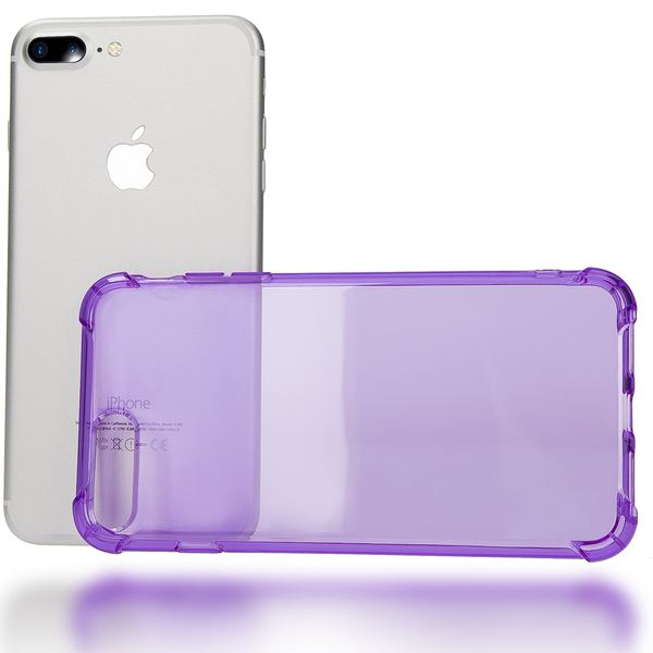NALIA Handyhülle kompatibel mit iPhone 8 Plus / 7 Plus, Ultra-Slim Silikon Case Crystal Schutz-Hülle Dünn Durchsichtig, Etui Handy-Tasche Back-Cover Schale Transparent Smart-Phone Thin Bumper - Lila – Bild 3