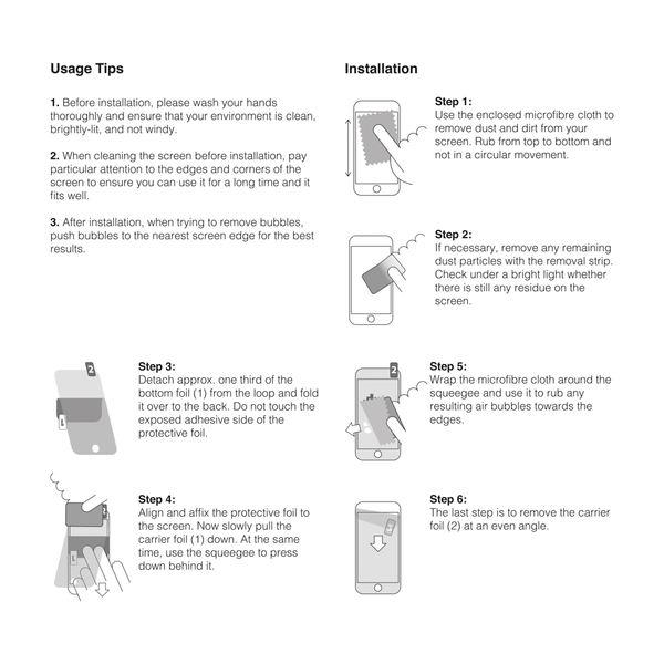 NALIA 3x Schutzfolie kompatibel mit Smartphone, Handy Bildschirm Display-Schutz, Dünne Folie Abdeckung, TPU Screen Protector – Bild 23