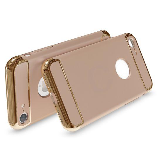 iPhone 7 Hülle Handyhülle von NICA, stoßfeste Schutzhülle Case Cover, Dünnes Hardcase Handy-Tasche, Slim Backcover Phone Etui Matt Metall-Look Bumper für Apple iPhone 7 Smartphone - Gold – Bild 2