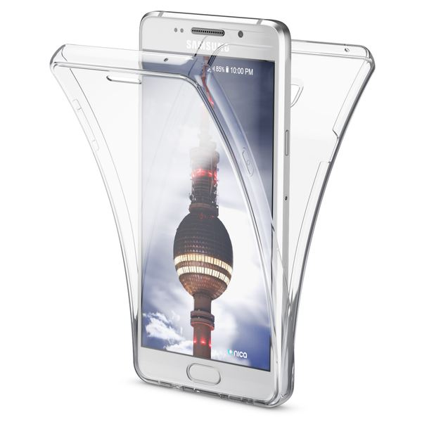NALIA 360 Grad Handyhülle kompatibel mit Samsung Galaxy A3 2016, Full Cover Vorne & Hinten Rundum Schutz Hülle, Slim Ganzkörper Silikon Case, Transparenter Displayschutz & Rückseite - Transparent – Bild 1