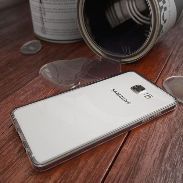 NALIA 360 Grad Handyhülle kompatibel mit Samsung Galaxy A3 2016, Full Cover Vorne & Hinten Rundum Doppel-Schutz Hülle, Dünnes Ganzkörper Silikon Case, Transparenter Displayschutz & Rückseite - Grau – Bild 6
