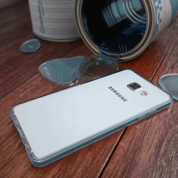 NALIA 360 Grad Handyhülle kompatibel mit Samsung Galaxy A3 2016, Full Cover Vorne & Hinten Rundum Doppel-Schutz Hülle, Dünnes Ganzkörper Silikon Case, Transparenter Displayschutz & Rückseite - Blau – Bild 6