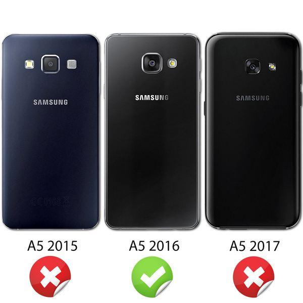 NALIA 360 Grad Handyhülle kompatibel mit Samsung Galaxy A5 2016, Full Cover Vorne & Hinten Rundum Doppel-Schutz Hülle, Dünnes Ganzkörper Silikon Case, Transparenter Displayschutz & Rückseite - Grau – Bild 4