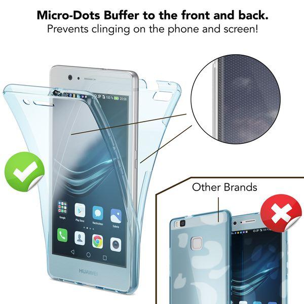 NALIA 360 Grad Handyhülle kompatibel mit Huawei P9 Lite 2016, Full Cover Vorne Hinten Rundum Doppel-Schutz Hülle Dünnes Ganzkörper Case Handy-Tasche Transparenter Displayschutz Rückseite - Gold – Bild 3
