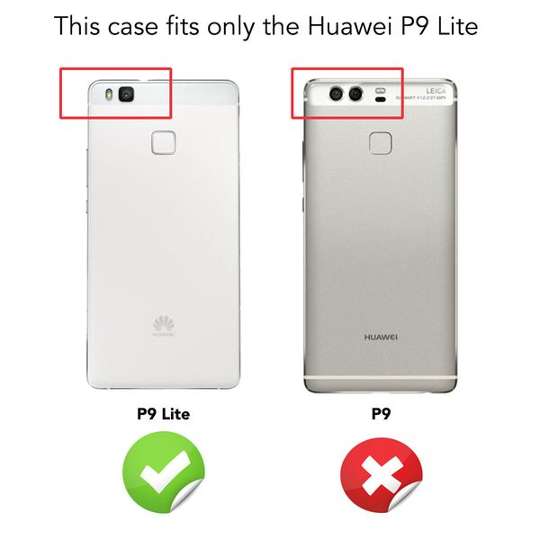 NALIA 360 Grad Handyhülle kompatibel mit Huawei P9 Lite 2016, Full Cover Vorne Hinten Rundum Doppel-Schutz Hülle Dünnes Ganzkörper Case Handy-Tasche Transparenter Displayschutz Rückseite - Blau – Bild 4