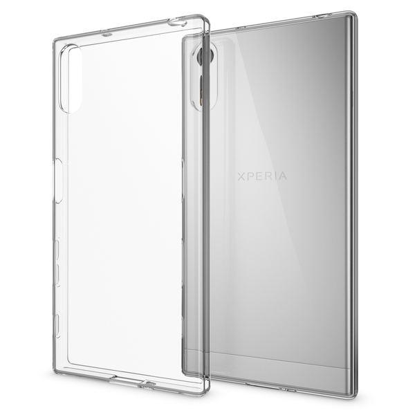 NALIA Handyhülle kompatibel mit Sony Xperia XZ, Slim Silikon Motiv Case Phone Cover Crystal Schutzhülle Dünn Durchsichtig, Etui Handy-Tasche Backcover, Transparenter Bumper - Transparent – Bild 1