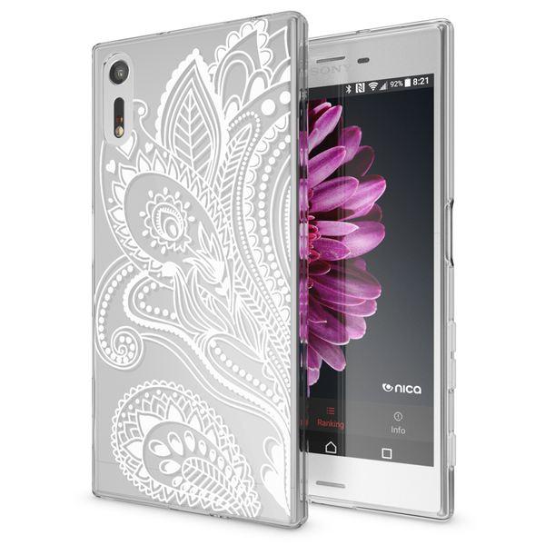 NALIA Handyhülle kompatibel mit Sony Xperia XZ, Slim Silikon Motiv Case Phone Cover Crystal Schutzhülle Dünn Durchsichtig, Etui Handy-Tasche Transparent Backcover Bumper – Bild 5