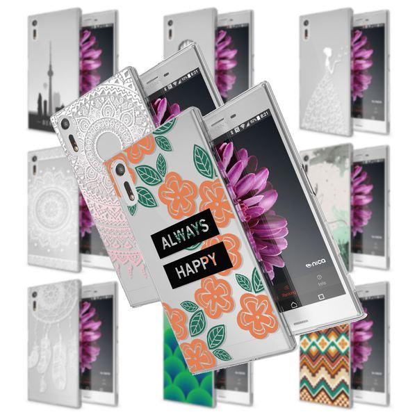 NALIA Handyhülle kompatibel mit Sony Xperia XZ, Slim Silikon Motiv Case Phone Cover Crystal Schutzhülle Dünn Durchsichtig, Etui Handy-Tasche Transparent Backcover Bumper – Bild 1