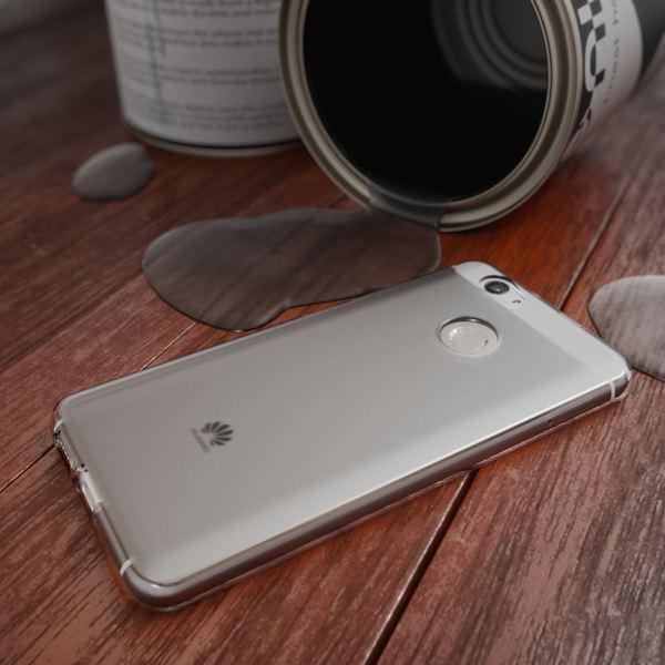 NALIA Handyhülle kompatibel mit Huawei Nova, Ultra-Slim Silikon Case Back-Cover Hülle Dünn Crystal Schutzhülle, Etui Handy-Tasche Schale Bumper Soft TPU Smart-Phone Gummi Hülle - Transparent Grau – Bild 4