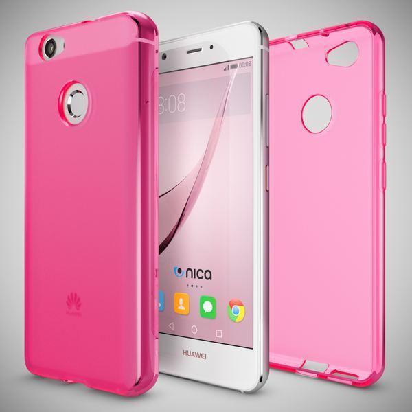 NALIA Handyhülle für Huawei Nova, Ultra-Slim Silikon Case Cover Hülle, Dünne Crystal Schutzhülle, Etui Handy-Tasche Back-Cover Phone Bumper, softe TPU Gummihülle für Nova Smartphone- Matt Pink – Bild 3