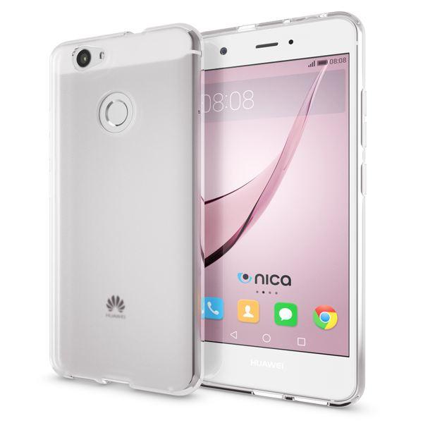 NALIA Handyhülle für Huawei Nova, Ultra-Slim Silikon Case Cover Hülle, Dünne Crystal Schutzhülle, Etui Handy-Tasche Phone Bumper, softe TPU Gummihülle für Nova Smartphone- Transparent Weiß – Bild 1