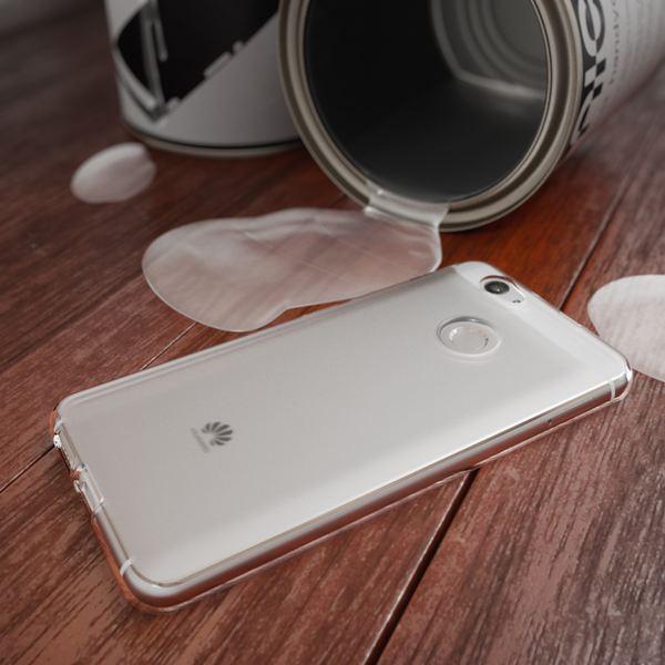 NALIA Handyhülle für Huawei Nova, Ultra-Slim Silikon Case Cover Hülle, Dünne Crystal Schutzhülle, Etui Handy-Tasche Phone Bumper, softe TPU Gummihülle für Nova Smartphone- Transparent Weiß – Bild 4