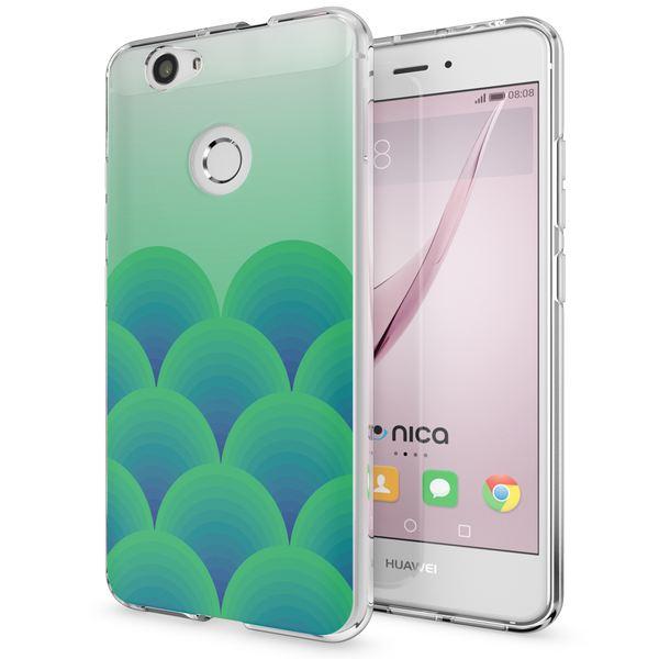 NALIA Handyhülle kompatibel mit Huawei Nova, Slim Silikon Motiv Case Cover Hülle Crystal Schutzhülle Dünn Durchsichtig, Etui Handy-Tasche Back-Cover Smart-Phone Bumper – Bild 2