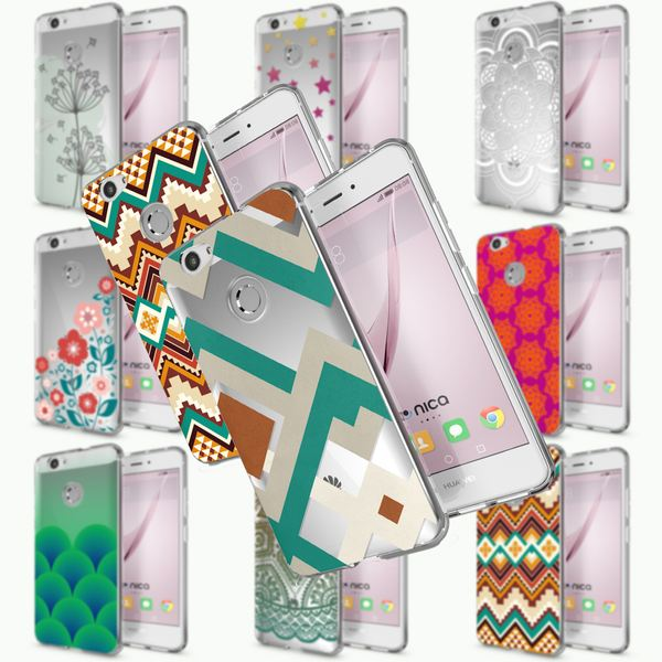 NALIA Handyhülle kompatibel mit Huawei Nova, Slim Silikon Motiv Case Cover Hülle Crystal Schutzhülle Dünn Durchsichtig, Etui Handy-Tasche Back-Cover Smart-Phone Bumper – Bild 1