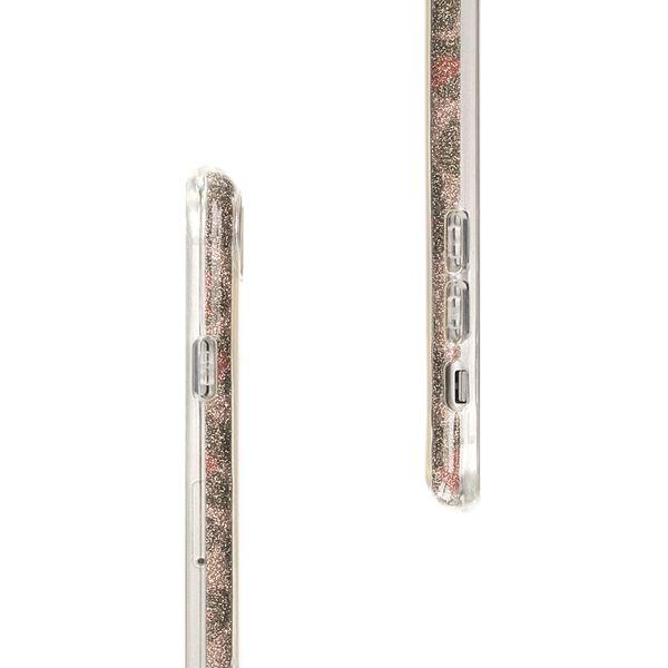 NALIA Handyhülle für iPhone 8 Plus / 7 Plus, Glitzer Leopard Slim Silikon-Case Back-Cover Schutz-Hülle, Glitter Leo Sparkle Handy-Tasche, Dünnes Bling Strass Etui für Apple iPhone 7+ / 8+ - Silber Grau – Bild 7