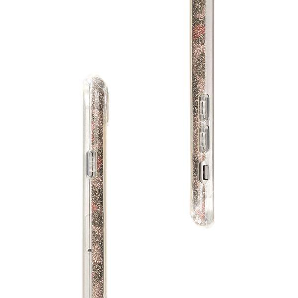 NALIA Handyhülle kompatibel mit iPhone 8 Plus / 7 Plus, Glitzer Leopard Slim Silikon-Case Back-Cover Schutz-Hülle, Glitter Leo Sparkle Handy-Tasche, Dünnes Bling Strass Smart-Phone Etui - Pink Lila – Bild 7