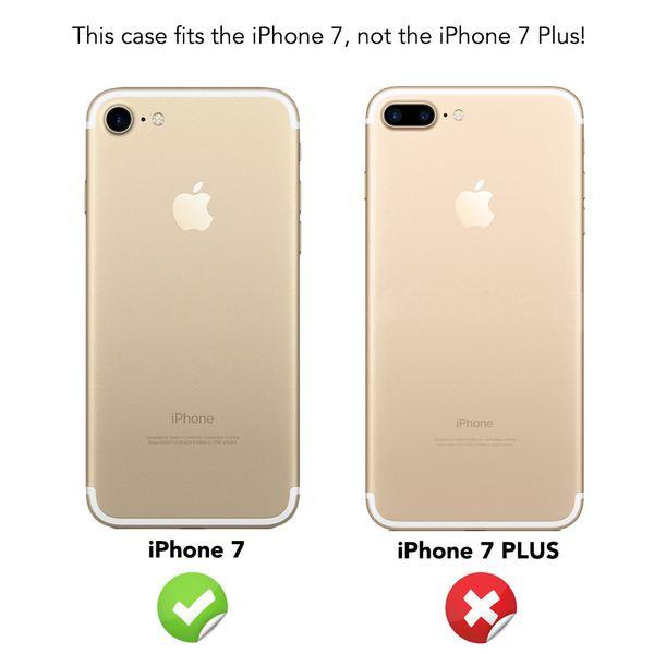NALIA Handyhülle für iPhone 7, Glitzer Ultra-Slim Silikon-Case Back-Cover Schutz-Hülle, Glitter Sparkle Handy-Tasche Bumper, Dünnes Bling Strass Phone Etui für Apple i-Phone 7 - Rosa Pink – Bild 4