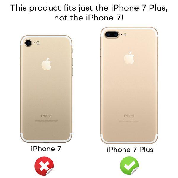 NALIA Handyhülle kompatibel mit iPhone 7 Plus, Glitzer Ultra-Slim Silikon-Case Back-Cover Schutz-Hülle, Glitter Sparkle Handy-Tasche Bumper, Dünnes Bling Strass Edel Smart-Phone Thin Etui - Rose Pink – Bild 4