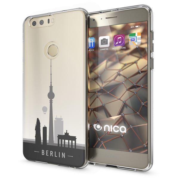 NALIA Handyhülle kompatibel mit Huawei Honor 8, Slim Silikon Motiv Case Cover Hülle Crystal Schutzhülle Dünn Durchsichtig, Etui Handy-Tasche Backcover Transparent Bumper – Bild 8