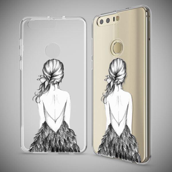 NALIA Handyhülle kompatibel mit Huawei Honor 8, Slim Silikon Motiv Case Cover Hülle Crystal Schutzhülle Dünn Durchsichtig, Etui Handy-Tasche Backcover Transparent Bumper – Bild 13