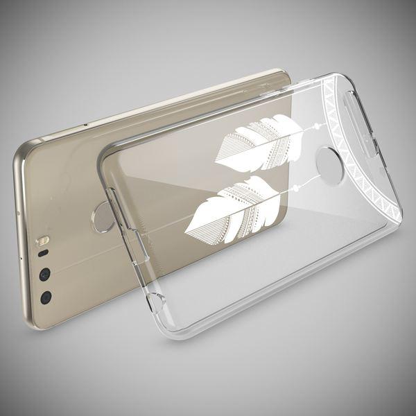 NALIA Handyhülle kompatibel mit Huawei Honor 8, Slim Silikon Motiv Case Cover Hülle Crystal Schutzhülle Dünn Durchsichtig, Etui Handy-Tasche Backcover Transparent Bumper – Bild 18