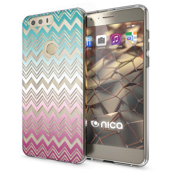 NALIA Handyhülle kompatibel mit Huawei Honor 8, Slim Silikon Motiv Case Cover Hülle Crystal Schutzhülle Dünn Durchsichtig, Etui Handy-Tasche Backcover Transparent Bumper – Bild 23