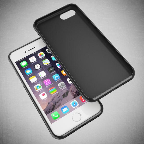 NALIA Handyhülle kompatibel mit iPhone 8 / 7, Ultra-Slim Silikon Case Gummihülle, Matte Anti-Rutsch Schutz-Hülle Dünn, Etui Handy-Tasche Back-Cover Telefon-Schale Thin Smart-Phone Bumper - Schwarz – Bild 6