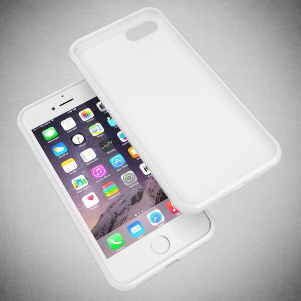 NALIA Handyhülle kompatibel mit iPhone 8 / 7, Ultra-Slim Silikon Case Gummihülle, Matter Anti-Rutsch Schutz-Hülle Dünn, Etui Handy-Tasche Back-Cover Telefon-Schale Thin-Fit Smart-Phone Bumper - Weiß – Bild 6