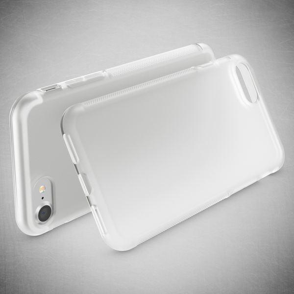 NALIA Handyhülle kompatibel mit iPhone 8 / 7, Ultra-Slim Silikon Case Gummihülle, Matter Anti-Rutsch Schutz-Hülle Dünn, Etui Handy-Tasche Back-Cover Telefon-Schale Smart-Phone Bumper - Transparent – Bild 3