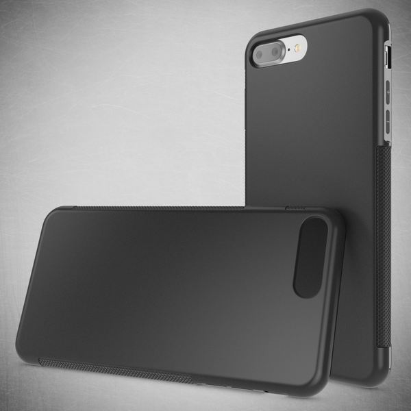 NALIA Handyhülle kompatibel mit iPhone 8 Plus / 7 Plus, Ultra-Slim Silikon Case Gummihülle, Matte Anti-Rutsch Schutz-Hülle Dünn, Etui Handy-Tasche Back-Cover Schale Thin Smart-Phone Bumper - Schwarz – Bild 5