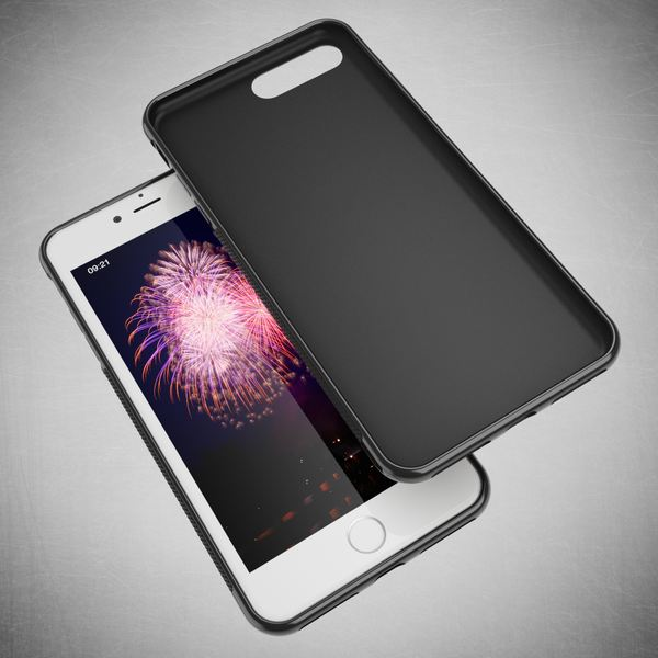 NALIA Handyhülle kompatibel mit iPhone 8 Plus / 7 Plus, Ultra-Slim Silikon Case Gummihülle, Matte Anti-Rutsch Schutz-Hülle Dünn, Etui Handy-Tasche Back-Cover Schale Thin Smart-Phone Bumper - Schwarz – Bild 6