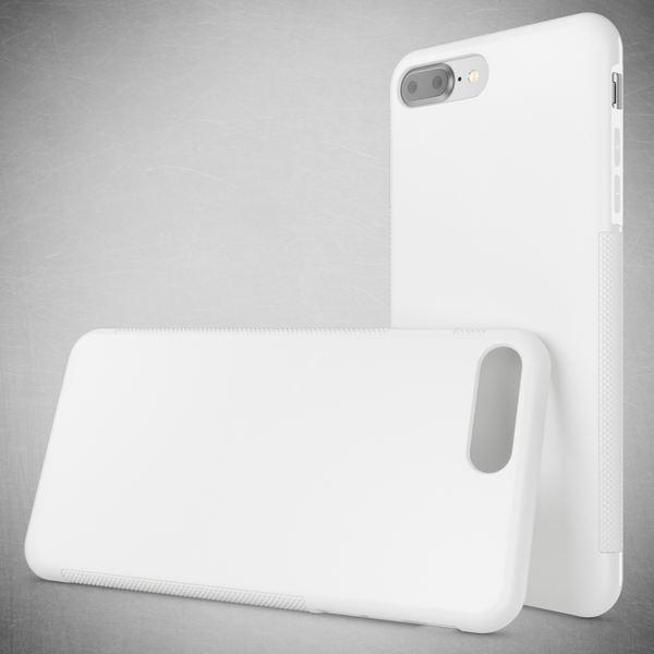 NALIA Handyhülle für iPhone 8 Plus / 7 Plus, Ultra-Slim Silikon Case Gummihülle, Matte Anti-Rutsch Schutz-Hülle Dünn, Etui Handy-Tasche Back-Cover Bumper für Apple iPhone 7 Plus / 8 Plus- Weiß – Bild 5