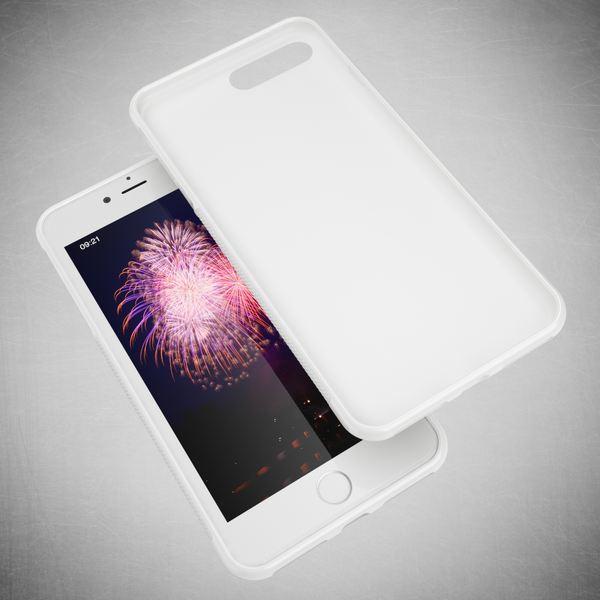 NALIA Handyhülle kompatibel mit iPhone 8 Plus / 7 Plus, Ultra-Slim Silikon Case Gummihülle, Matte Anti-Rutsch Schutz-Hülle Dünn, Etui Handy-Tasche Back-Cover Telefon-Schale Smart-Phone Bumper - Weiß – Bild 6